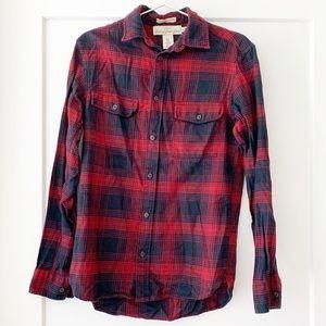 H&M Men's Plaid Flannel Button Down Shirt